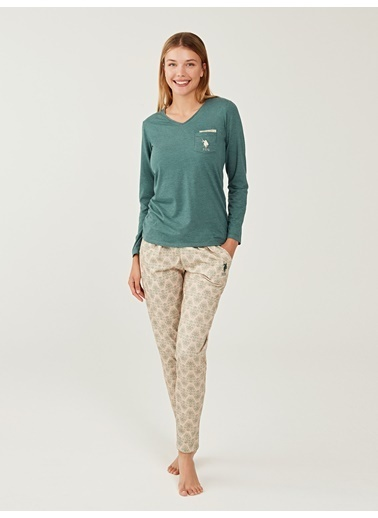 U.S. Polo Assn. Pijama Takım Yeşil